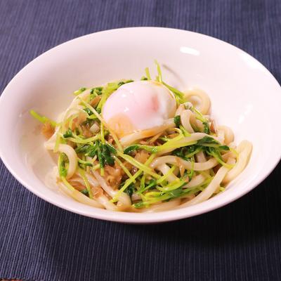シャキッと 豆苗とザーサイの中華風うどん