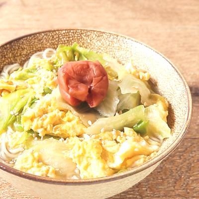かきたまレタスにゅう麺