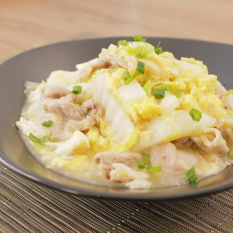 白菜 豚 こま 生姜たっぷり♡豚こまと白菜の中華風春雨スープ【#簡単 #節約
