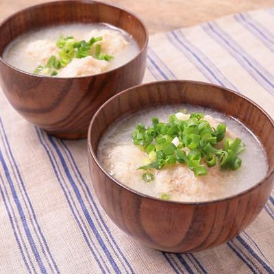 とろとろレンコンと鶏団子スープ