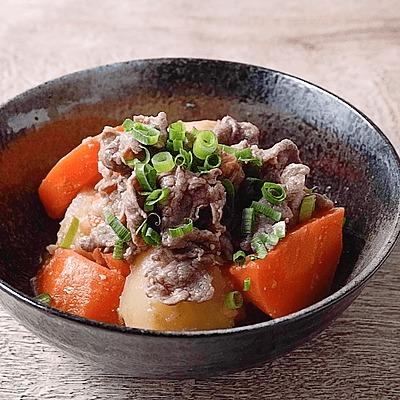 牛肉とにんじんのこっくり味噌煮
