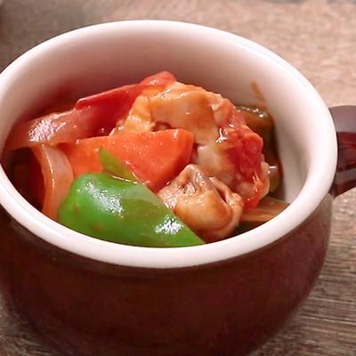 常備菜に最適 トマトチキンのラタトゥイユ風