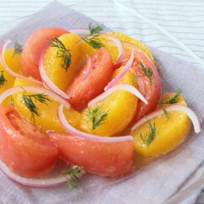 トマトのオレンジマリネ