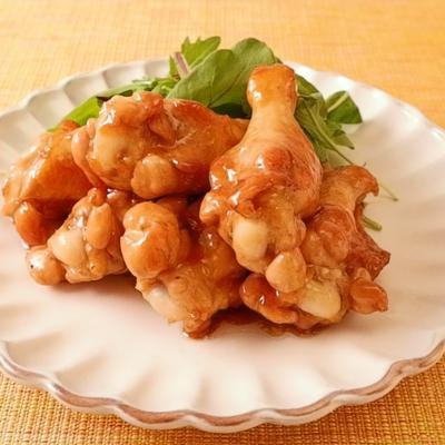 鶏手羽元のガーリックバター焼き