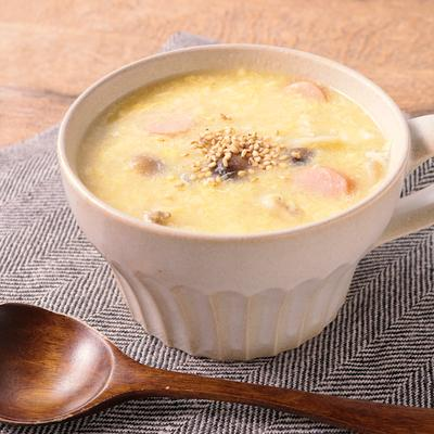 しめじとウインナーの中華風たまごスープ