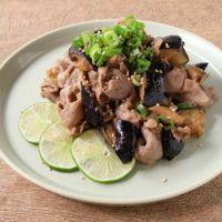 豚肉とナスのライムポン酢炒め