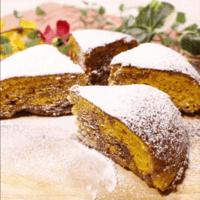 炊飯器で簡単!かぼちゃとチョコのマーブルケーキ