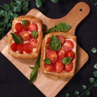 フレッシュトマトのパイ焼き