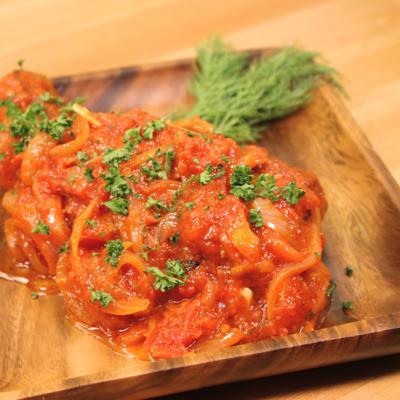 肉汁ジューシー!豚バラ肉のトマト煮