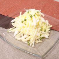 白菜とリンゴの簡単しゃきしゃき和え物