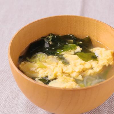 ねぎと卵のお味噌汁