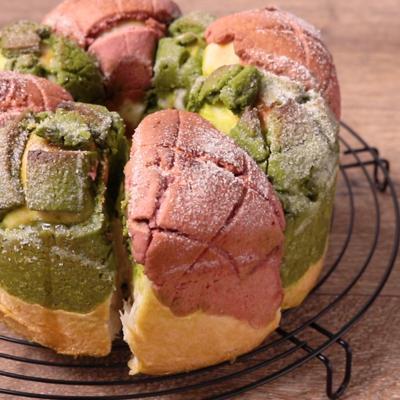 リース型が可愛い ちぎりメロンパン