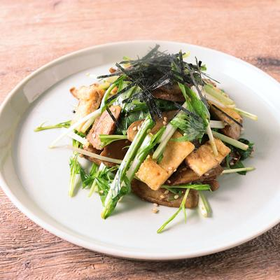 カリカリごぼうと水菜の和風サラダ