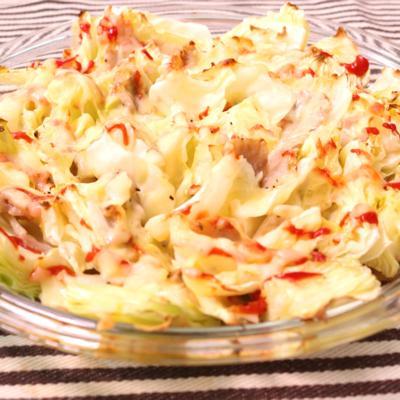 キャベツと豚バラ肉で簡単チーズ焼き