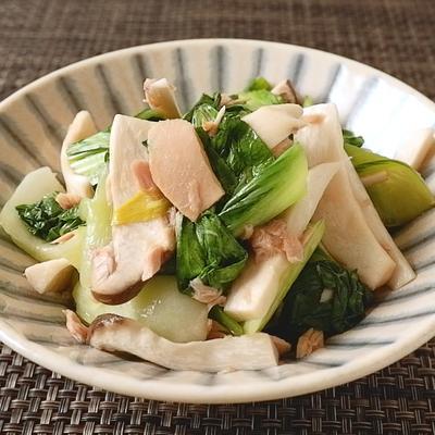 電子レンジで簡単 チンゲン菜とエリンギのツナ和え