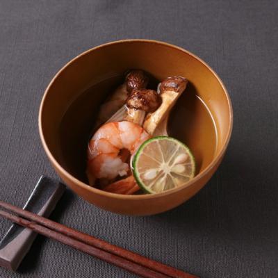 白だしで簡単 焼き松茸のお吸い物