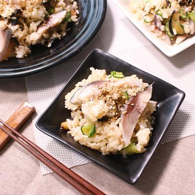 さっぱりおいしい!ナスとミョウガのしめ鯖混ぜ寿司