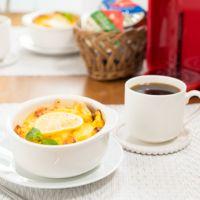 朝のコーヒーに レモンとヨーグルトのフレンチトースト