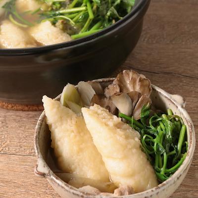 味噌バタースープのきりたんぽ鍋