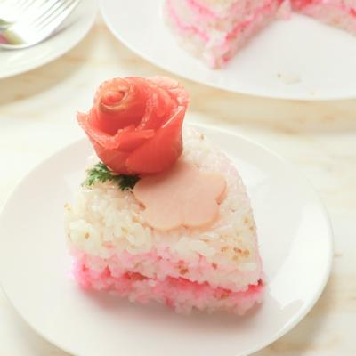 お花の寿司ケーキ