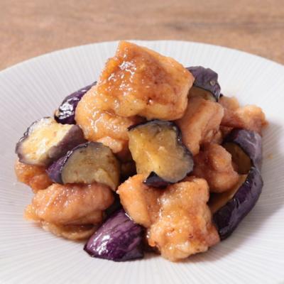 鶏もも肉となすの柚子胡椒の揚げ浸し