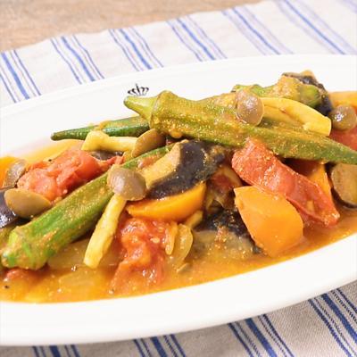 ゴロゴロ野菜のトマトカレー煮込み