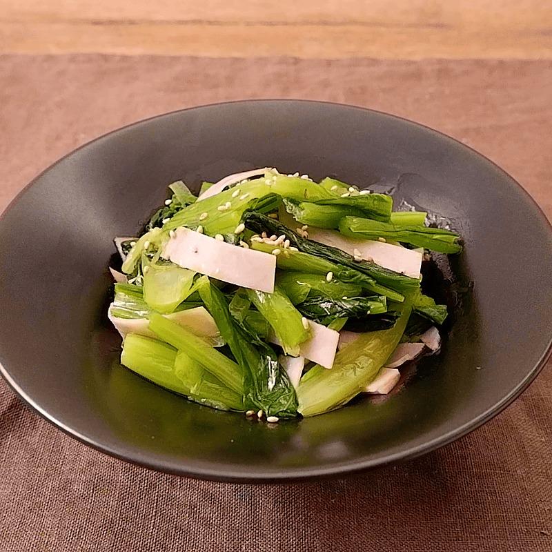 常備菜に 小松菜とハムのピリ辛ナムル