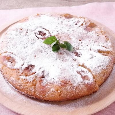 フライパンでつくる 焼きバナナケーキ
