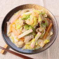 家庭で作れる スープから作るお手軽ちゃんぽん
