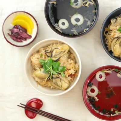牡蠣と生姜の炊き込みご飯