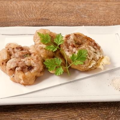 牛肉と梅肉の天ぷら