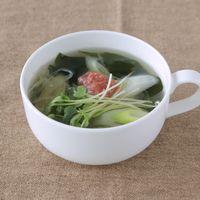 長ねぎとわかめの梅干しスープ