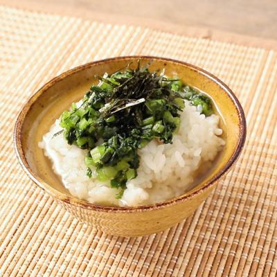 野沢菜とわさびのあっさりお茶漬け