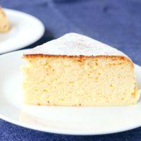 しっとりふわふわスフレチーズケーキ