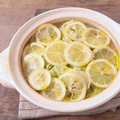 レモンでさっぱり 洋風レタス鍋