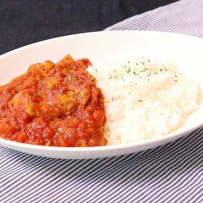 トマト缶とカレー粉で作るチキンカレー
