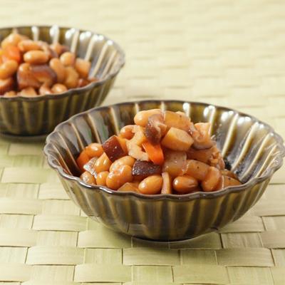 常備菜に お手軽たっぷり具材の五目豆