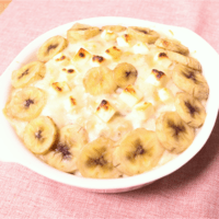バナナのデザートパングラタン