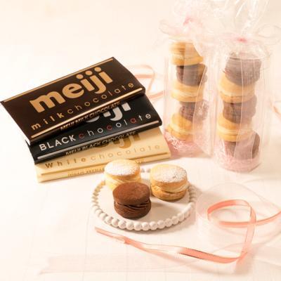 2色の濃厚チョコレートサンドクッキー