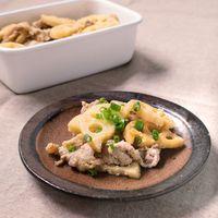 常備菜に 豚肉とれんこんの味噌マヨ炒め