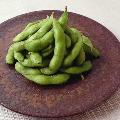 フライパンでつくる 冷凍枝豆の蒸し焼き