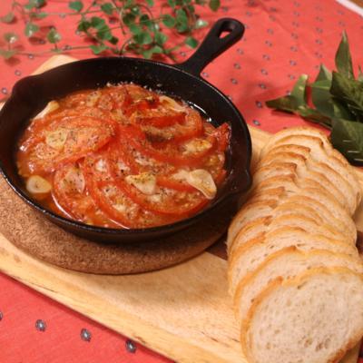 お手軽バル!トマトのハーブオーブン焼き