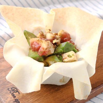 イチジクとアボカドのバルサミコドレッシングサラダ