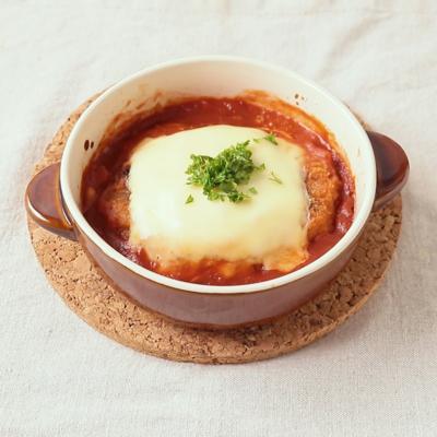 市販のコロッケで トマトチーズ焼き