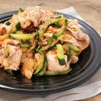 シャキシャキ野菜の冷製豚キムチ
