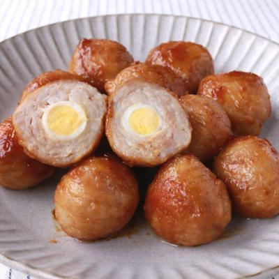 コロンと可愛い うずらの卵の肉巻き