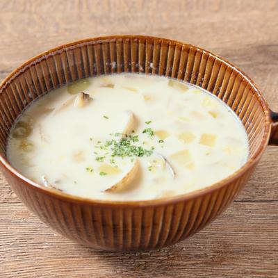 あさりのコーンクリームスープ