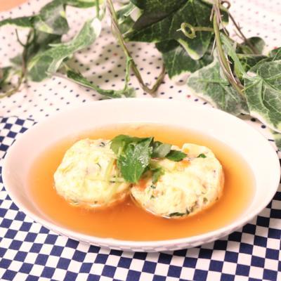 お豆腐と蟹の真薯