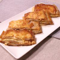 油揚げと豚バラ肉のチーズミルフィーユ風煮