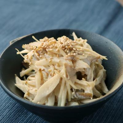 レンジで簡単 ごぼうと鶏ささみのマヨサラダ